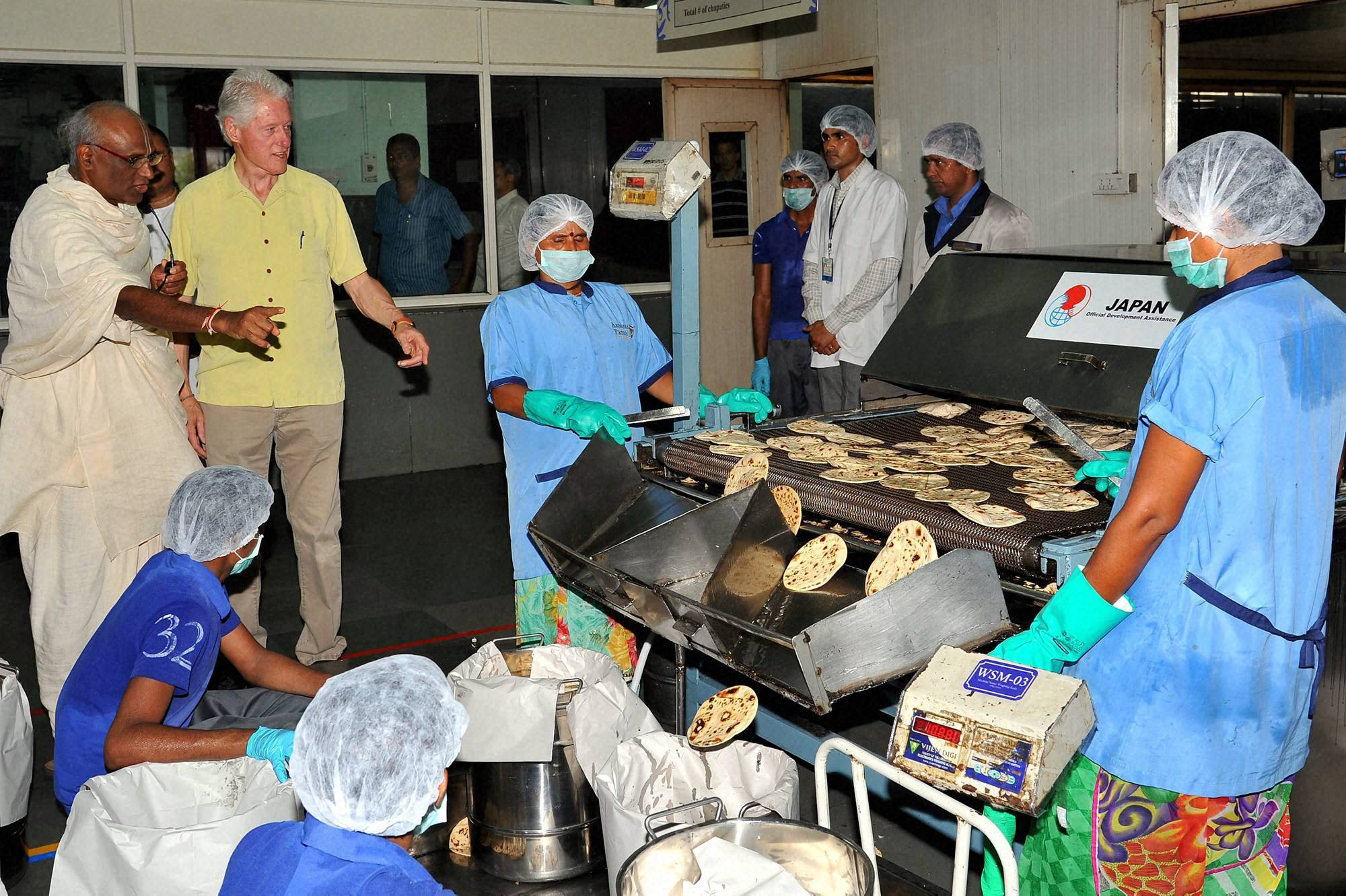 Former US President, Bill Clinton, Akshaya Patra, kitchen, Jaipur