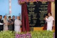 Prime Minister Narendra Modi, Governor of Maharashtra, K. Sankaranarayanan and Union Minister for Road Transport & Highways and Shipping, Nitin Gadkari