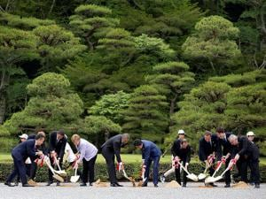 The leaders of the G-7 nations have arrived for a visit at Ise Jingu, the most hallowed site for Japan's indigenous Shinto religion