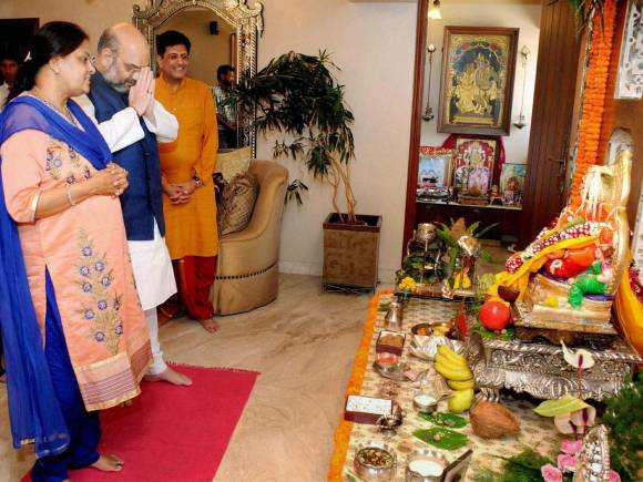 BJP President, Amit Shah, Ganesh Chaturthi, Piyush Goyal