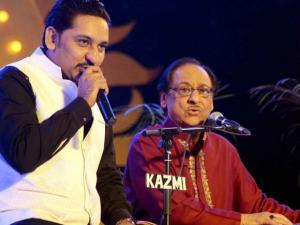 Ghulam Ali with son Aamir Ali performs in Lucknow