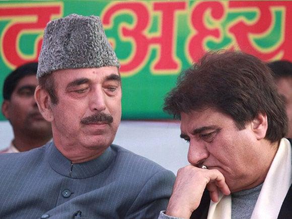 Uttar Pradesh election, Raj Babbar, Ghulam Nabi Azad