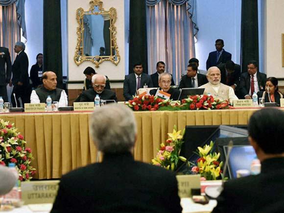 Governors Conference, Pranab Mukherjee, Hamid Ansari, Narendra Modi, Rashtrapati Bhavan, President  Pranab Mukherjee