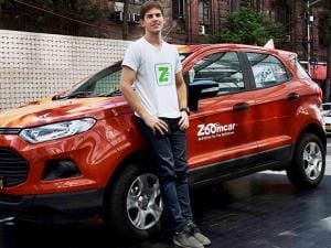 Founder and CEO of Zoomcar,Greg Moram at the Official Launch of the Company's operation in Kolkata