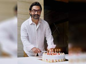 Aamir Khan celebrates his 52nd birthday at his residence in Mumbai