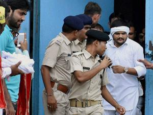 Hardik Patel is released from prison, in Surat
