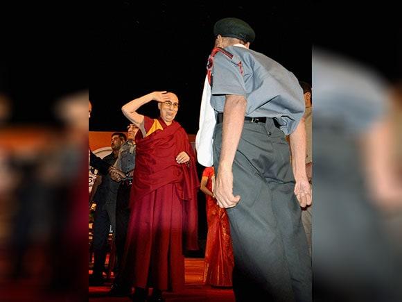Naren Chandra Das, Dalai Lama, havildar, Namami Brahmaputra festival, Tibetan spiritual leader salutes