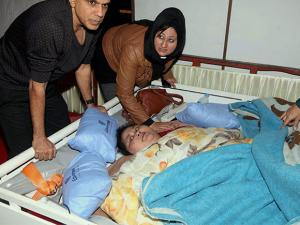 Eman Ahmed at a hospital for weight reduction treatment in Mumbai