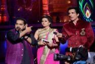 Shargun Mehta and Sonu Sood with singer Shankar Mahadevan