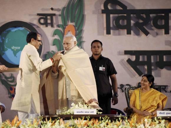 Narendra Modi, Madhya Pradesh Chief Minister, Shivraj Singh Chouhan, Sushma Swaraj, Modi govt, 10th World Hindi Conference, Vishwa Hindi Sammelan, World Hindi Summit