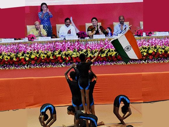 smriti irani, Smriti Zubin Irani, National Yoga Olympiad, speech, smriti irani news, HRD, HRD minister