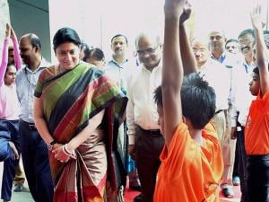HRD minister Smriti Irani at National Yoga Olympiad event 01