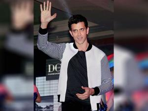 Hrithik Roshan gestures during the launch of DCTEX Furnishings app in Mumbai