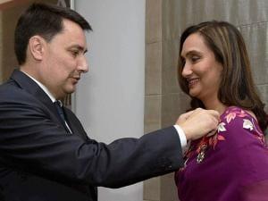 French Ambassador Alexandre Ziegler confers Officier de la Legion d'Honneur