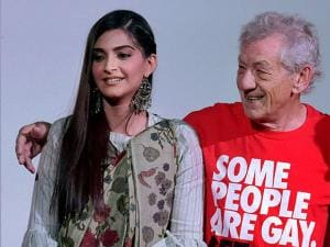 Hollywood actor Sir Ian McKellen and Bollywood actress Sonam Kapoor inaugurate the Kashish Film Festival in Mumbai