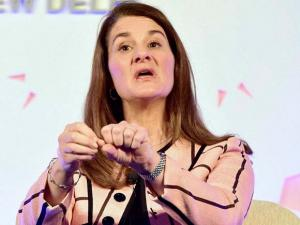 Melinda Gates, co-chair of the Bill and Melinda Gates Foundation, speaks at_the Advancing Asia Conference in New Delhi