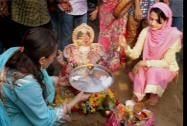 Bollywood actor Amisha Patel performs puja