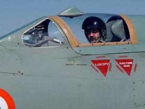 Chief of the Air Staff, Air Chief Marshal BS Dhanoa before a MiG-21 sortie at the Forward Base in Barmer