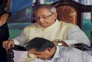 President Pranab Mukherjee with his son Abhijit Mukherjee
