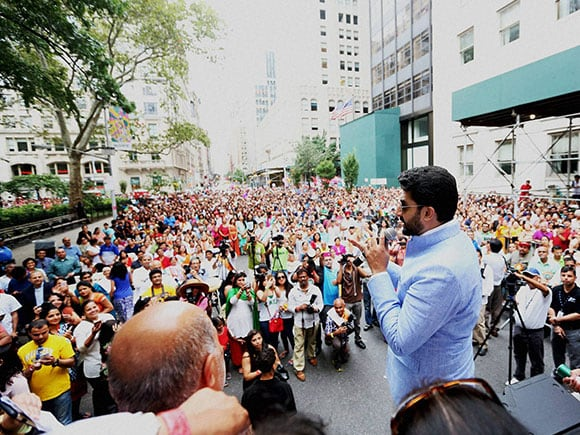 Independence Day, Abhishek Bachchan, New York, Indian Americans, clelebrate
