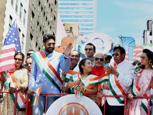Abhishek Bachchan on the occasion of  Indian Independence Day Celebrations in New York