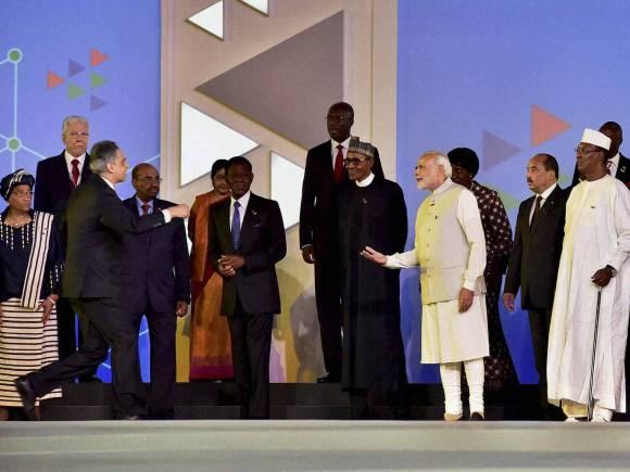 Narendra Modi, India-Africa Summit, Zimbabwe President, Robert Mugabe, Solar Rich countries, Rajyavardhan Singh Rathore, India Africa, India Africa Summit, Africa Summit, Africa India Summit, India Africa ties, India Africa Summit Dinner