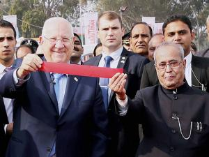 President Pranab Mukherjee and President of Israel, Reuven Rivlin at the inauguration of India's premier biennial Agro Technology & Business Fair 2016