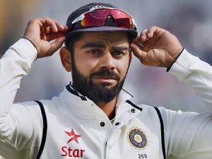 Virat Kohli on the fourth day of the third Test match between India and England in Mohali
