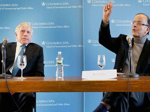 Finance Minister of India, Arun Jaitley, Lee Bollinger, Columbia University,  New York
