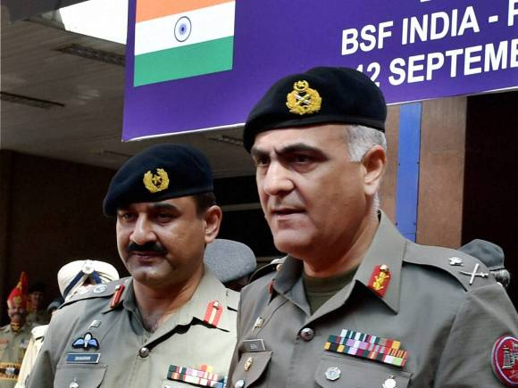 India-Pakistan, Border Security Force, BSF, BSF Director General, D.K. Pathak, Pakistani Rangers Director General, Umar Farooq Burki
