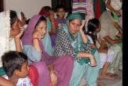 Border villagers taking shelter at a community hall at RS Pura