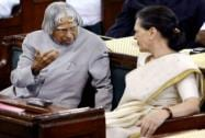Abdul Kalam with Sonia Gandhi