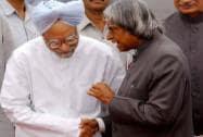 APJ Abdul Kalam with Manmohan Singh