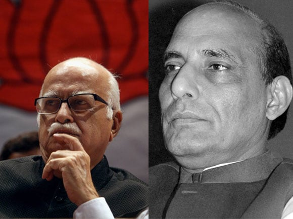 LK Advani, Rajnath Singh, BJP