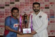 India's test match captain Virat Kohli and Bangladesh's test match captain Mushfiqur Rahim