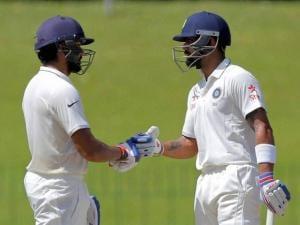 India's Rohit Sharma and Virat Kohli