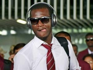 West Indies Captai Darren Sammy arrives at NSCBI Airport for the upcoming T 20 World Cup