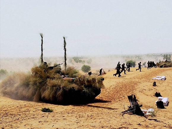 Indian Army, Thar Shakti, Tanks, Army, Defence, India-Pakistan Border