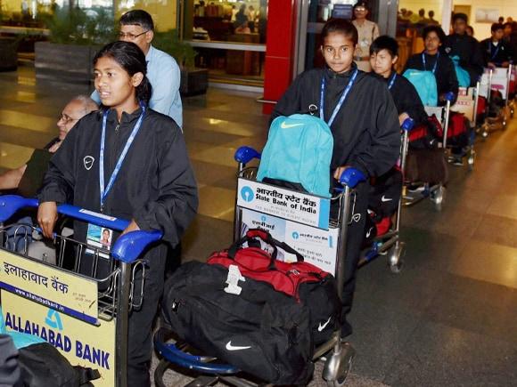 Nepal Earthquake, Nepal, Earthquake, India, IGI Airport T3, Under-14 Girls Football Team, Football, Narendra Modi, Modi