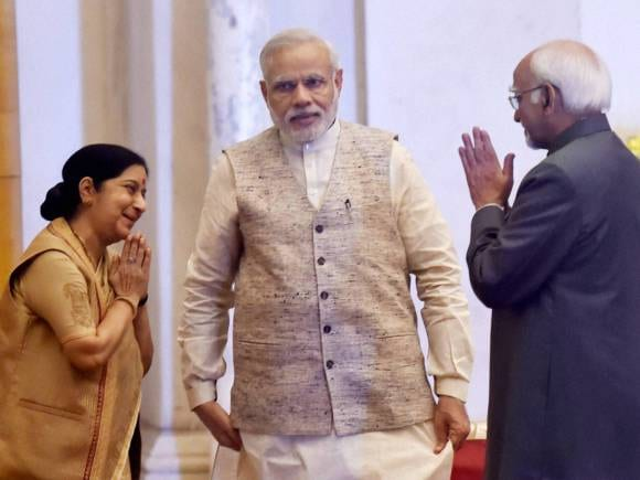 Narendra Modi, Sushma Swaraj, Hamid Ansari, India, Pacific Island Countries, Rashtrapati Bhavan, Island Countries, President of India, Pranab Mukherjee, New Delhi