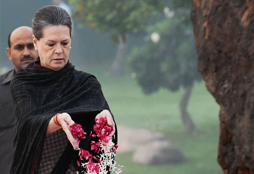 Congress President, Sonia Gandhi, paying, tribute, former Prime Minister, Indira Gandhi, 30th Death Anniversary, Shakti Sthal