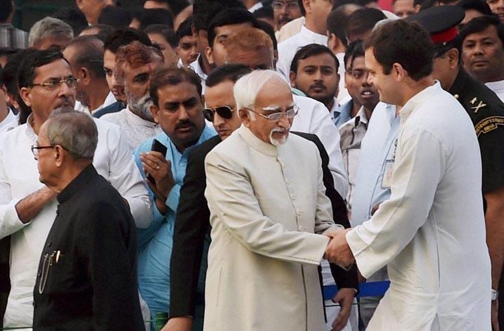 President, Pranab Mukherjee, Vice President, Hamid Ansari, Congress, Vice President, Rahul Gandhi, remembrance, ceremony, former Prime Minister, Indira Gandhi, mark, 30th Death Anniversary
