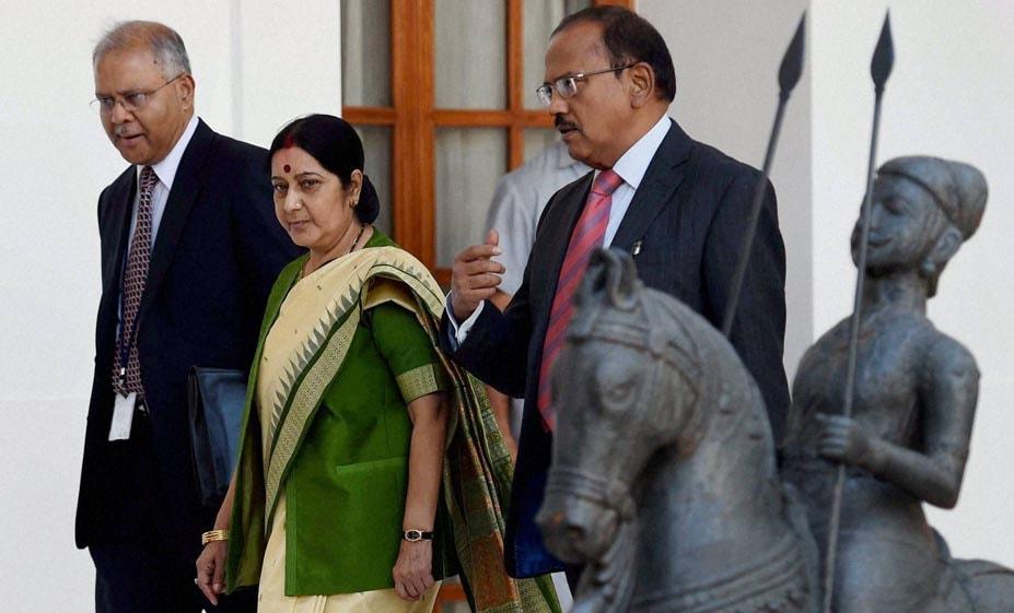 External Affairs Minister, Sushma Swaraj, NSA, Ajit Doval, India's ambassador, China, Ashok K Kantha, India-China, delegation, level, Hyderabad House
