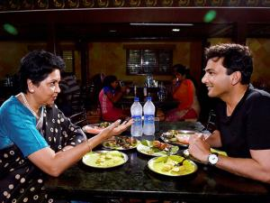 Indra Nooyi and Vikas Khanna