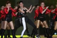Anushka Sharma performs during the Pepsi IPL 2015 opening night