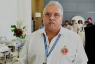Royal Challengers Bangalore owner Vijay Mallya arrives to take part at the IPL Season 8