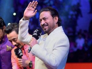 Bollywood actor Irrfan Khan during the Pro Kabaddi match