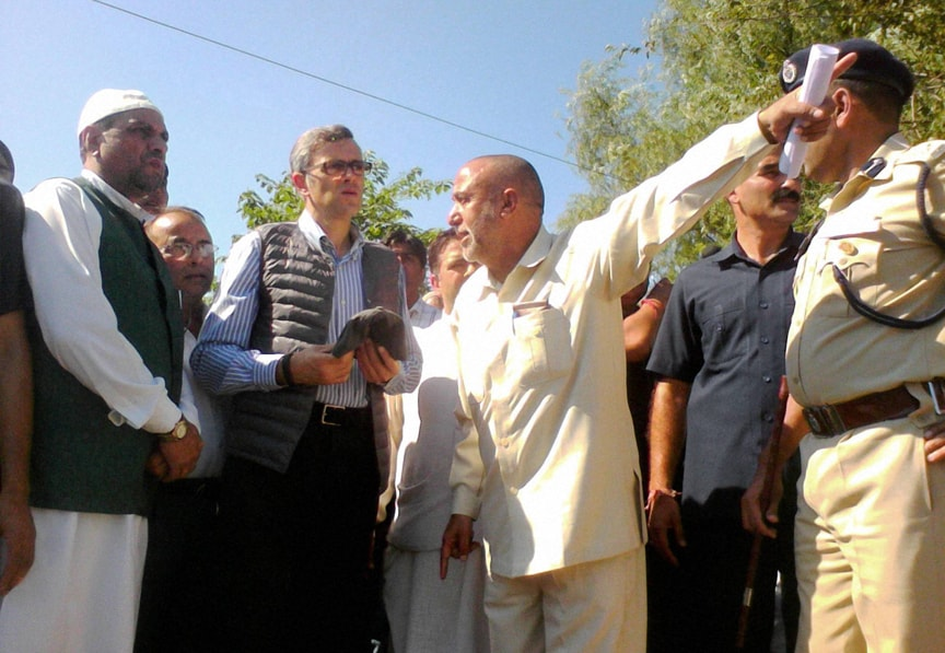 J K CM, Omar Abdullah, visit, flood affected, Shankar Nagar, Poonch