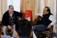Union Health Minister Harsh Vardhan with Union Home Secratary Anil Goswami in Srinagar