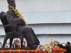 Chairman of Tata Sons Natarajan Chandrasekaran pays homage to the founder of Tata Steel, J N Tata,  on the his 178th Birth Anniversary in Jamshedpur